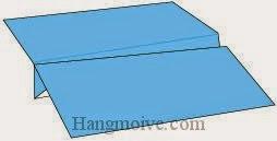 Bước 11: Hoàn thành cách xếp chiếc máy bay cánh to bằng giấy theo phong cách origami.