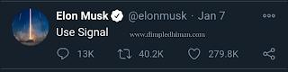 Elon Musk New Tweet