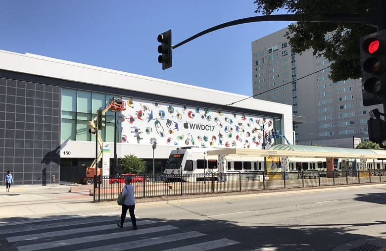 Apple has started decorating the McEnery Convention Center in San Jose for WWDC 2017 which is going to be held in June 5, next week at 10 A.M. local time.
