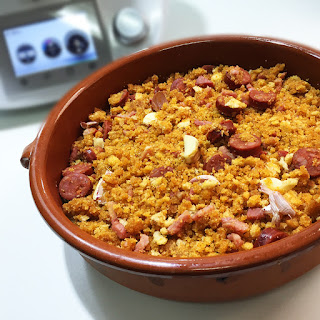 Migas con Chorizo y Panceta Thermomix