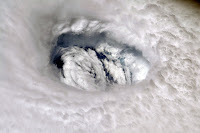 Hurricane Dorian seen from the International Space Station on Monday.  (Credit: NASA/EPA, via Shutterstock) Click to Enlarge.