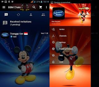 BBM Mod Tema Mickey Mouse v2.13.1.14 Apk Terbaru
