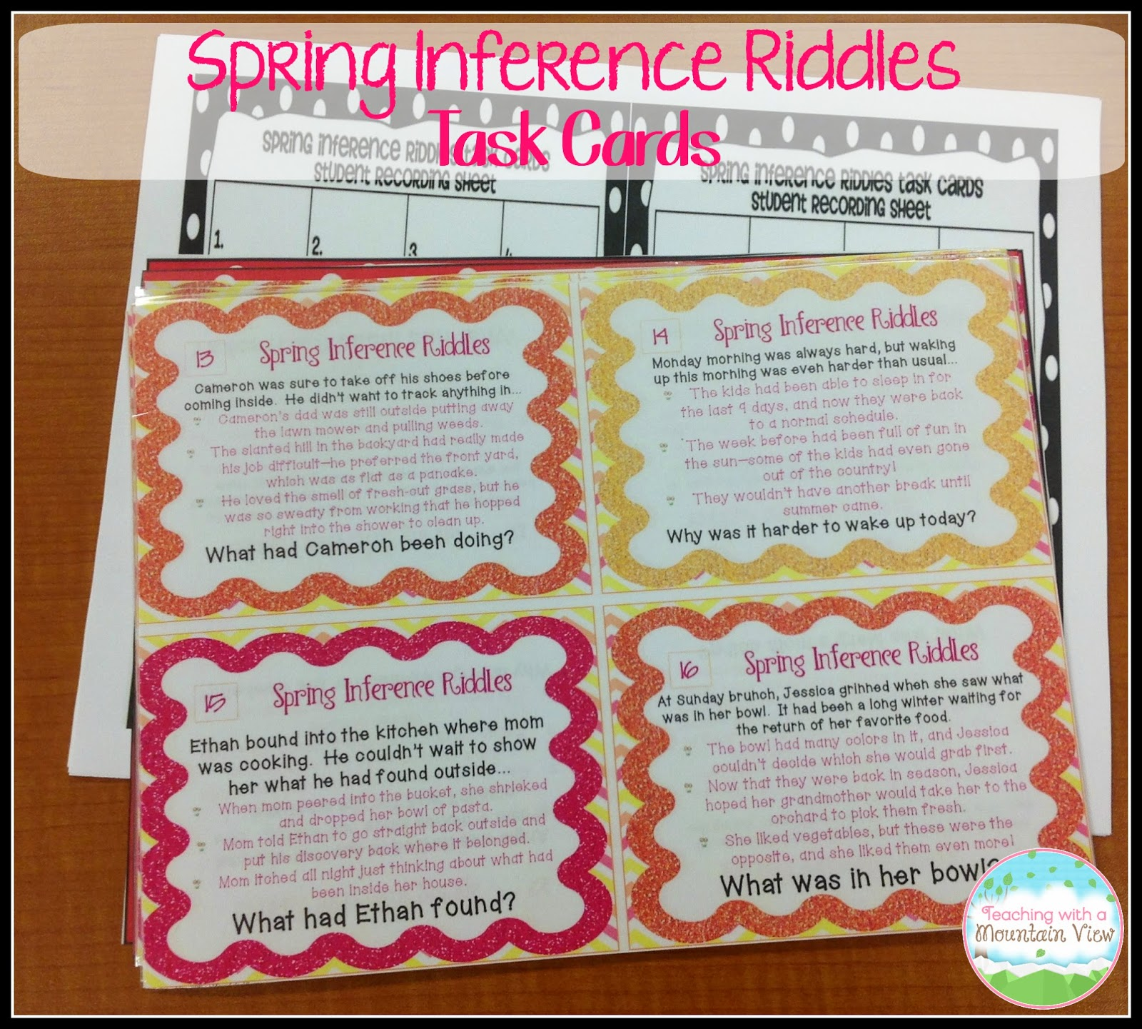 Task Card Corner: Student Created Task Cards For Assessment