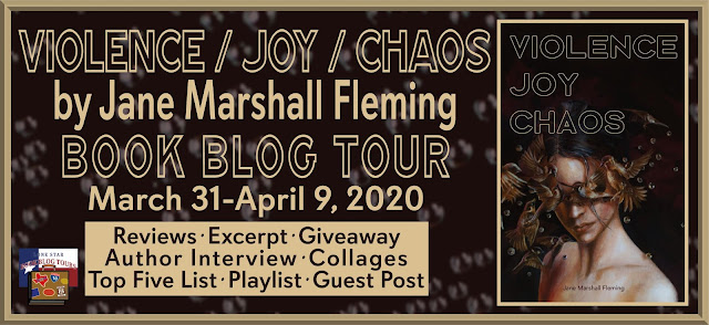 Violence / Joy / Chaos book blog tour promotion banner