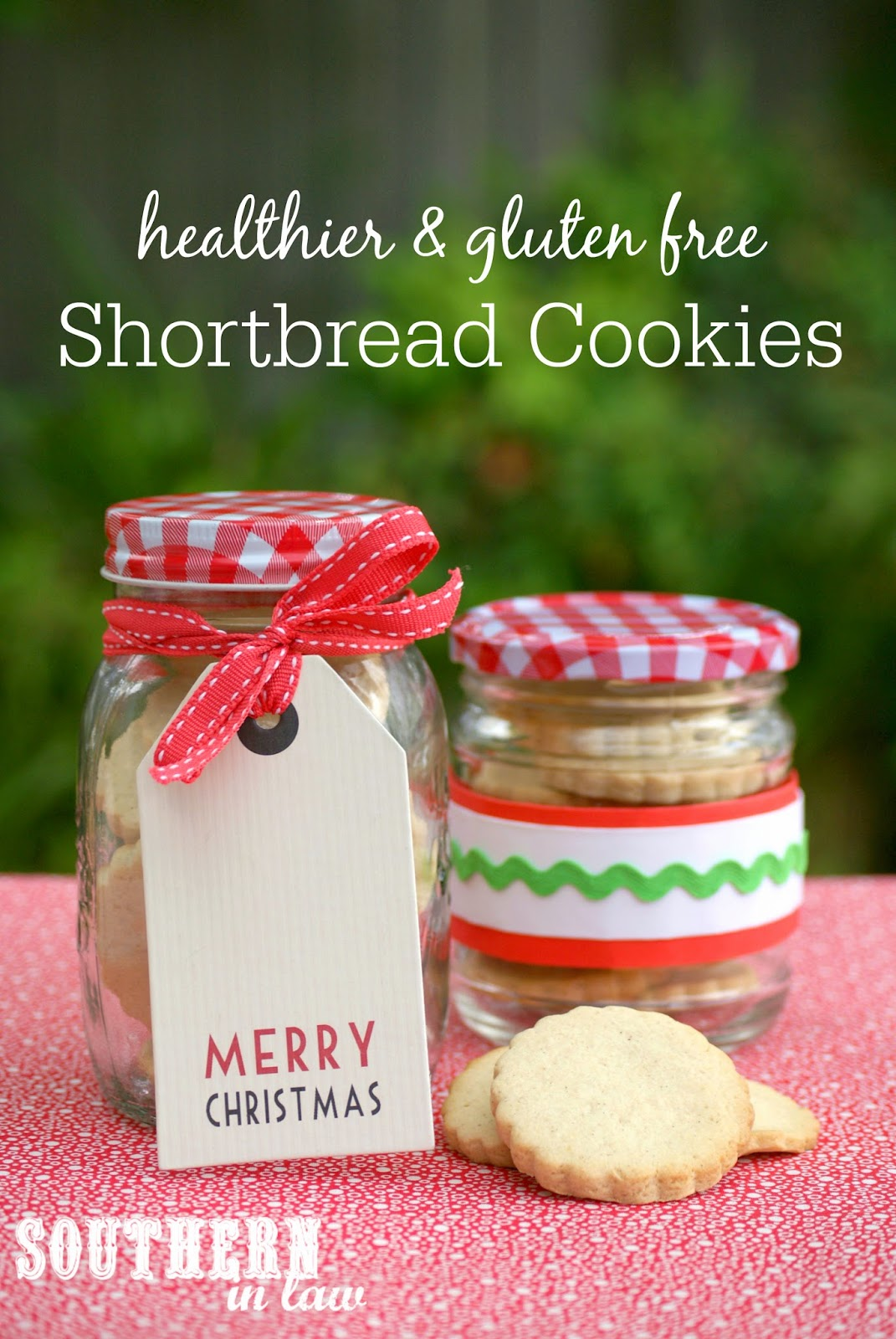 Healthier Shortbread Cookies Recipe for Christmas - low fat, low sugar, gluten free, healthier, healthy christmas recipes