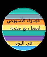 جدول حفظ القرآن الكريم الأسبوعي لمن يحفظ ربع صفحة في اليوم،، الأسبوع الحادي والأربعون