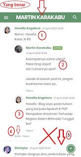 Cara Berkomentar yang Benar di Blog  Guru Kampung