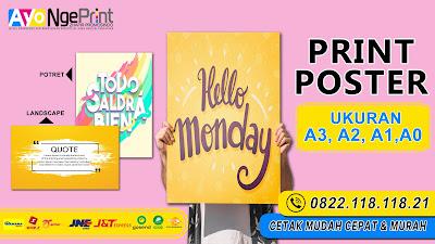 Cetak Poster A3,A2,A1,A0 Murah di Taman Sari, Jakarta Barat