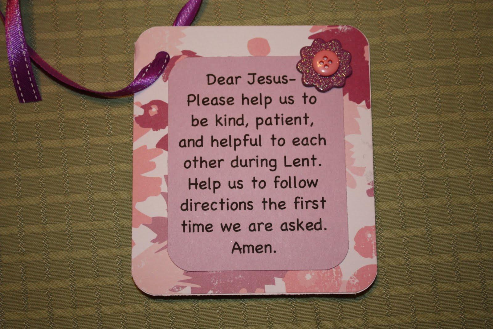 Moms For Xanax Lenten Prayer For Kids