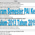 Program Semester PAI Kelas 3 Kurikulum 2013 Tahun 2019/2020 - Suka Madrasah