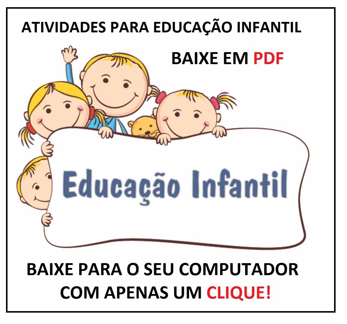 Baixe Em Pdf Atividades Educação Infantil Só Escola
