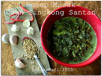Resep Masak Daun Singkong Kuah Santan ( Cassava Leaves With Coconut Milk Recipe )