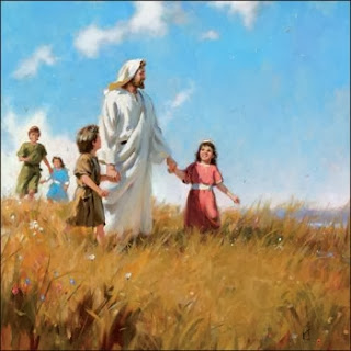 Illustration of Jesus and the children - Artist unknown