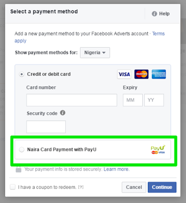 How To Pay For Facebook Ads In Naira Using PayU