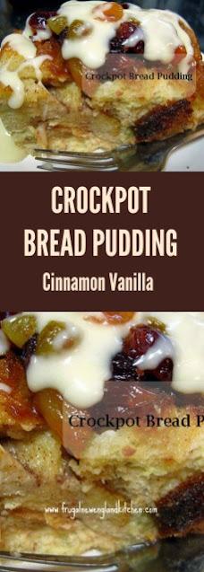Crockpot Bread Pudding Recipe