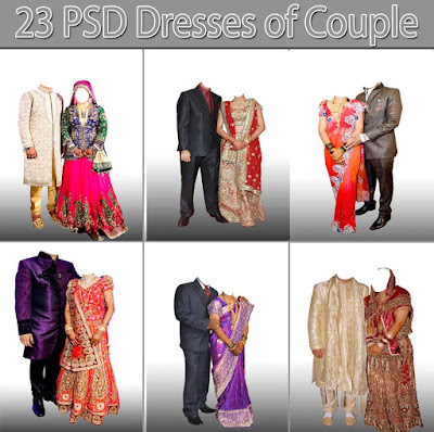 PSD Dresses of Couple