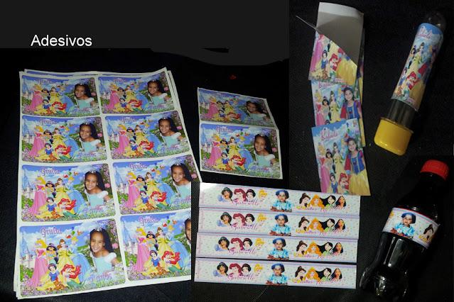 Adesivos As Princesas  Disney dicas e ideias para decoração de festa personalizados