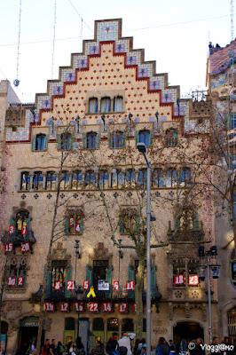 Casa Amatller nel quartiere Example di Barcellona