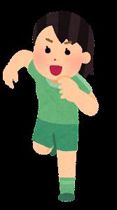 走る人たちのイラスト(スポーツ・女性1)