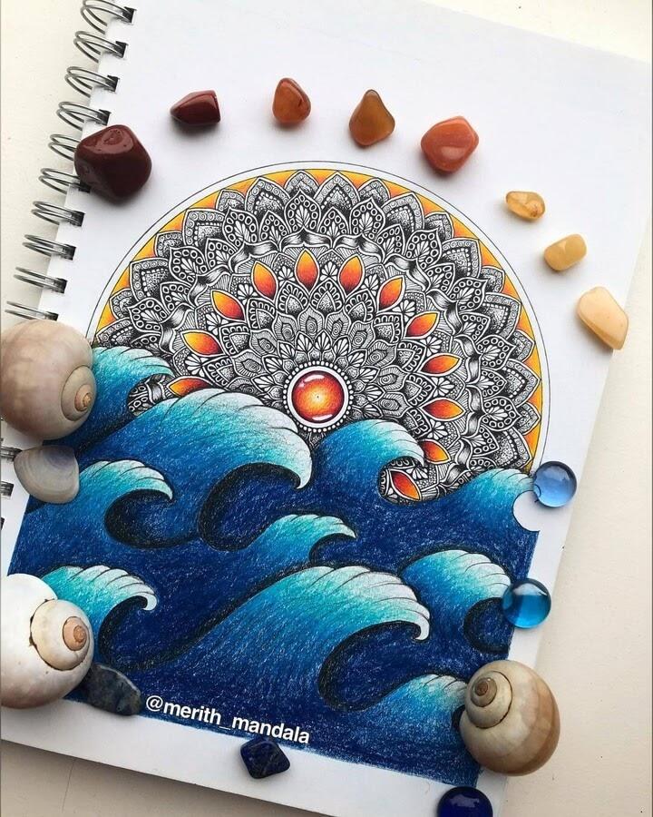 03-Mandala-and-waves-Merith-www-designstack-co