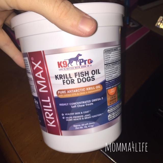 Momma4Life: Krill MAX Fish Oil for Dogs - Soft Moist Tasty