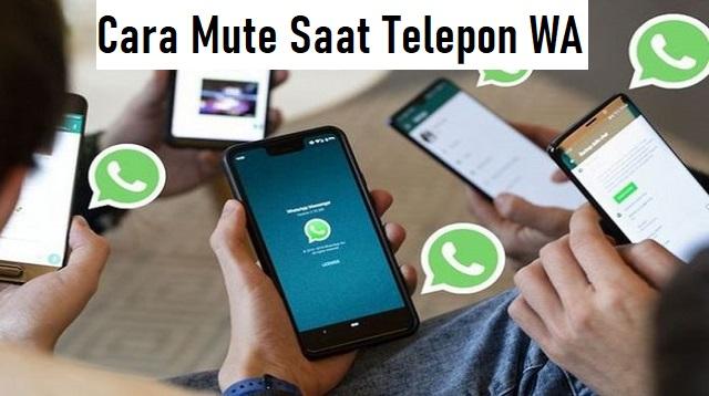 Cara Mute Saat Telepon WA
