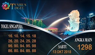 Prediksi Angka Togel Singapura Sabtu 13 Oktober 2018