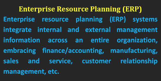 What is enterprise resource planning (ERP) systems?