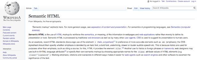 Semantic HTML doc on Wikipedia