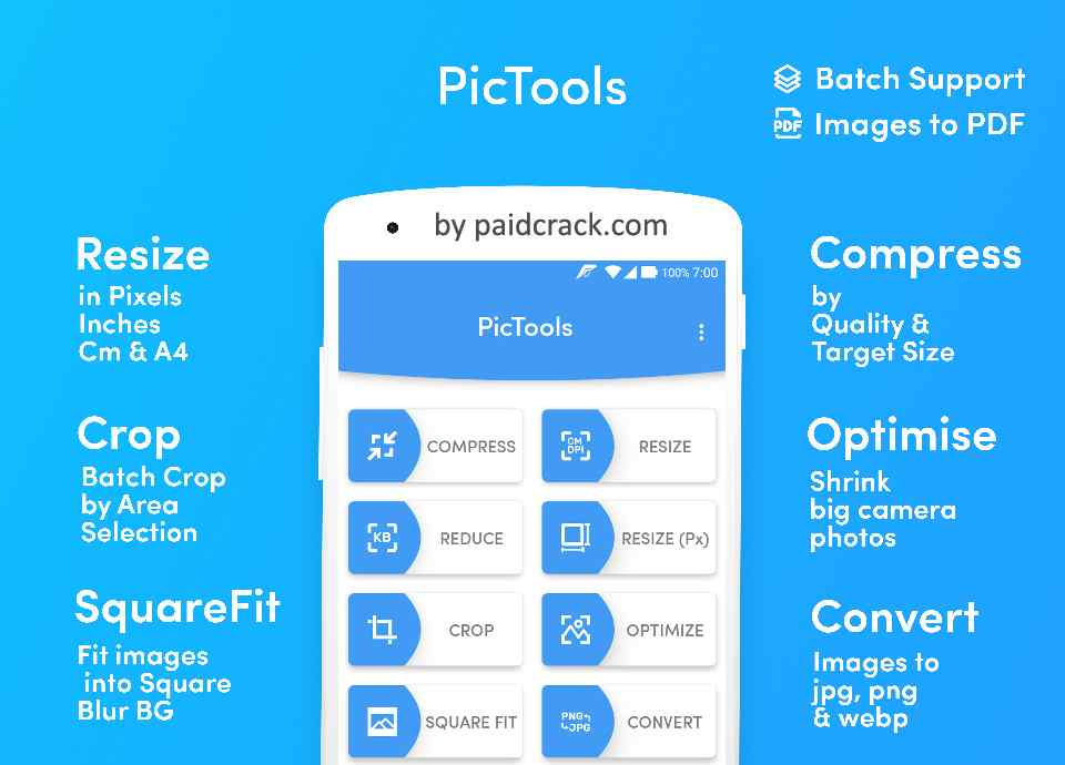 PicTools Batch image resize compress crop rotate Pro Mod Apk 1.7.0