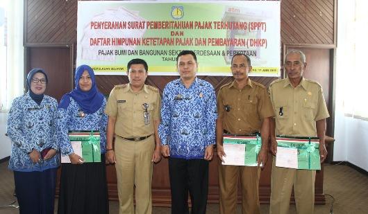 Lurah dan Kades Selayar, Terima SPPT DHKP TA 2019
