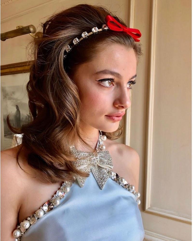 Diana Silvers  Makeup Photoshoot for MiuMiu - 2020