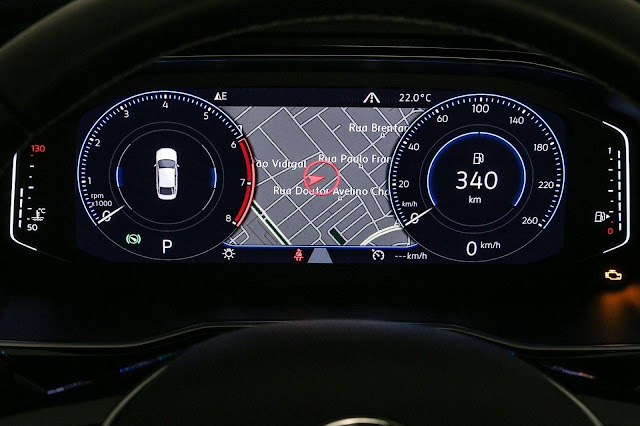 Novo VW Jetta 2019 R-Line 250 TSI - painel digital