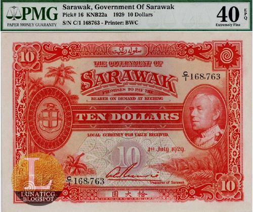 Sarawak $10 dollar