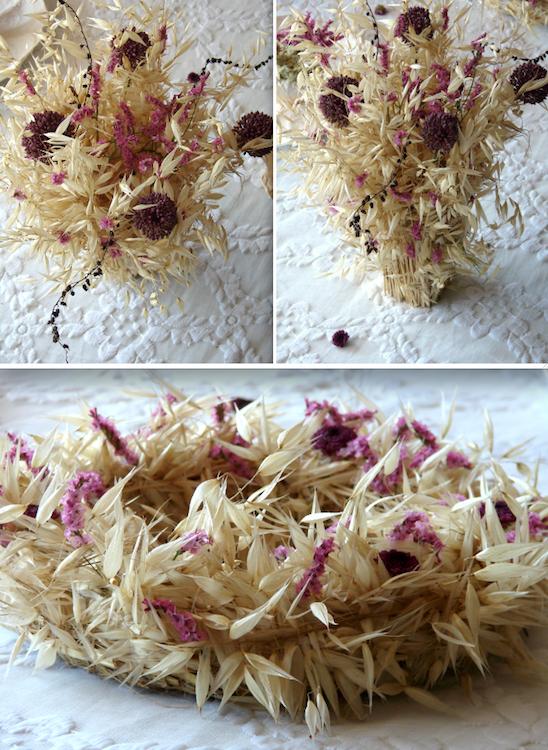 matrimonio green centrotavola fiori secchi e fiori di carta , ghirlande