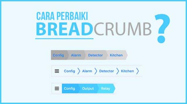 Cara perbaiki Breadcrumb Error setelah update google
