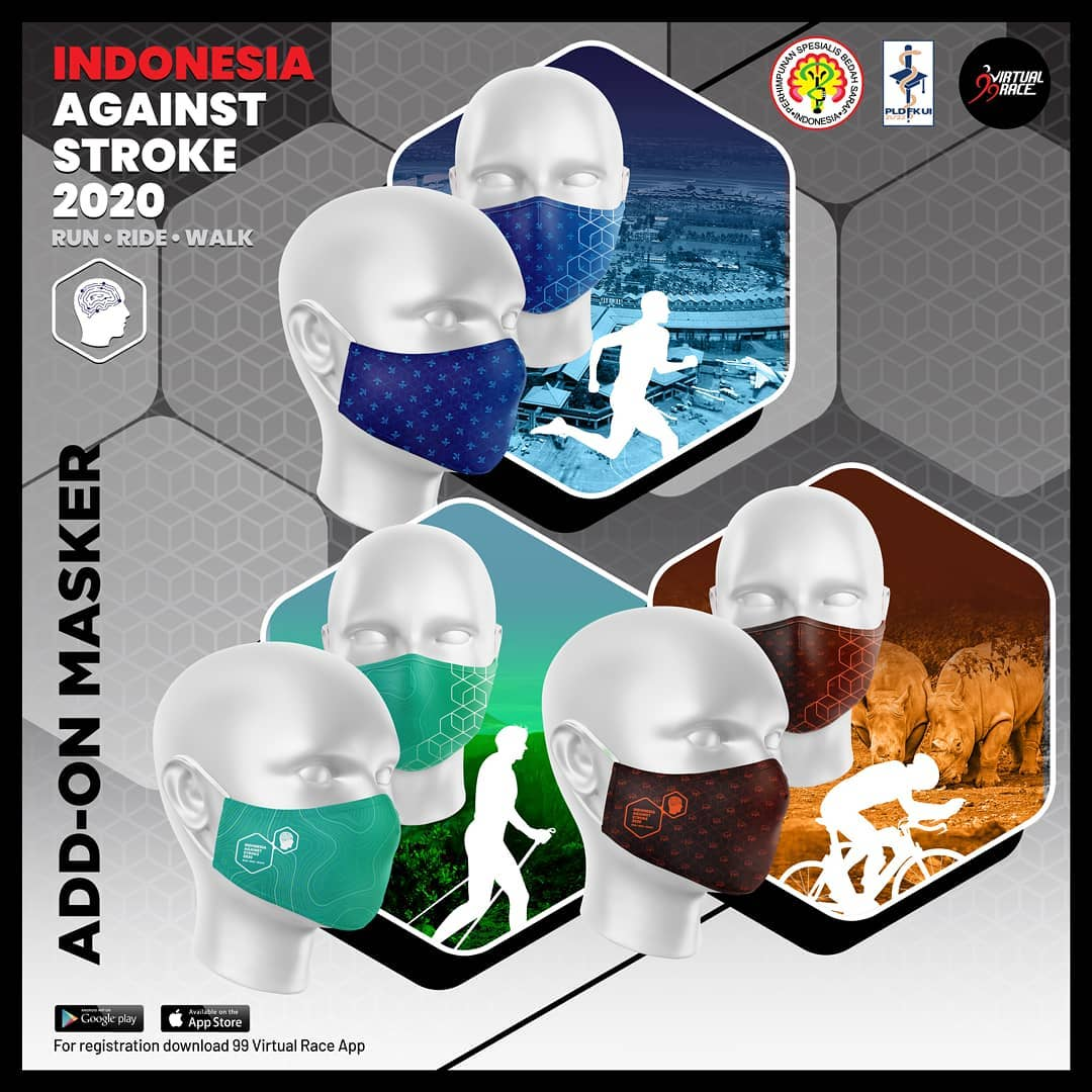 Masker - Run Ride Walk Indonesia Against Stroke • 2020