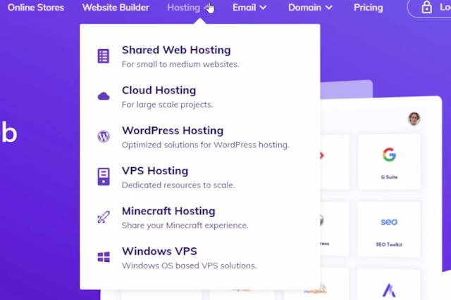 cloud and vps hosting option in hostinger