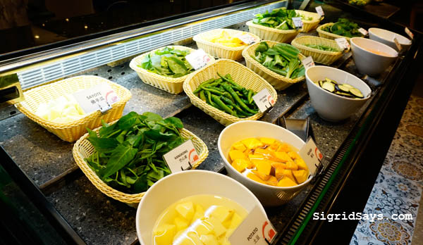 fresh vegetables - shabu-shabu - hot pot - hot pot ingredients - Bacolod restaurants - Tong Yang Plus Bacolod - Ayala Malls Capitol Central - Bacolod blogger