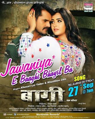 Jawaniya E Baaghi Bhayil Ba Video Song | Baaghi Bhojpuri Film Song 2019