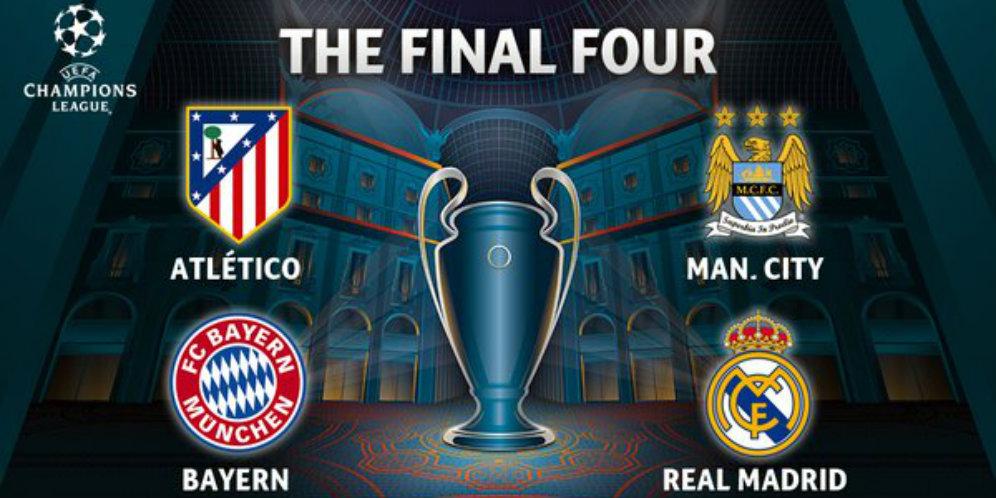 Jadwal Leg Pertama SEMIFINAL Liga Champions 2016: MAN CITY vs MADRID dan ATM vs MUENCHEN