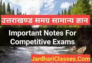 उत्तराखंड सामान्य ज्ञान 2020 (Uttarakhand GK Important Question 2020) - Uttarakhand Gk In Hindi