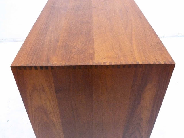 Danish Teak Cabinet by Peter Hivdt & Orla Molgaard Nielsen for Soborg Mobler Box Joint Construction