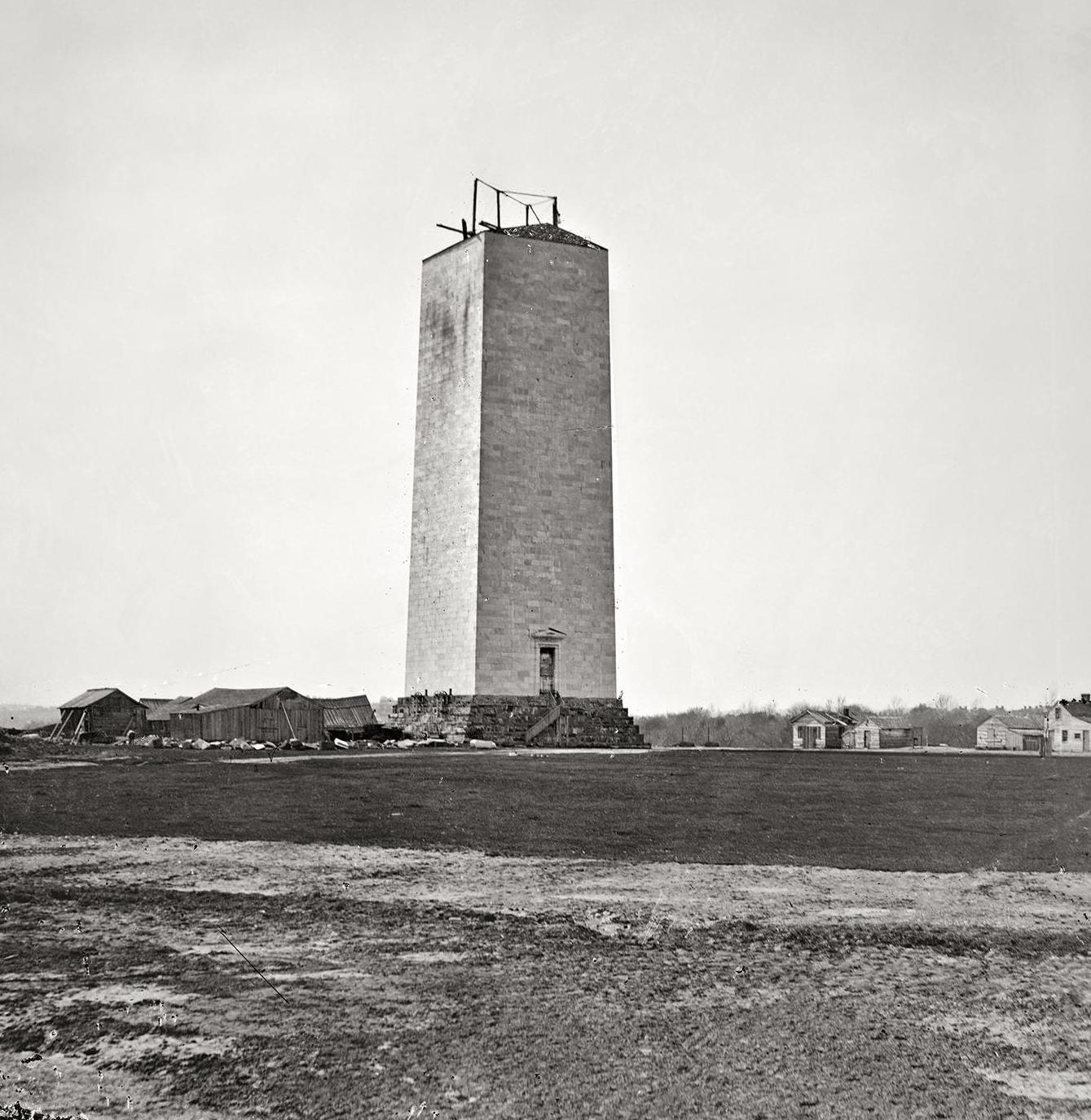 The Washington Monument, 1860 | BlueisKewl
