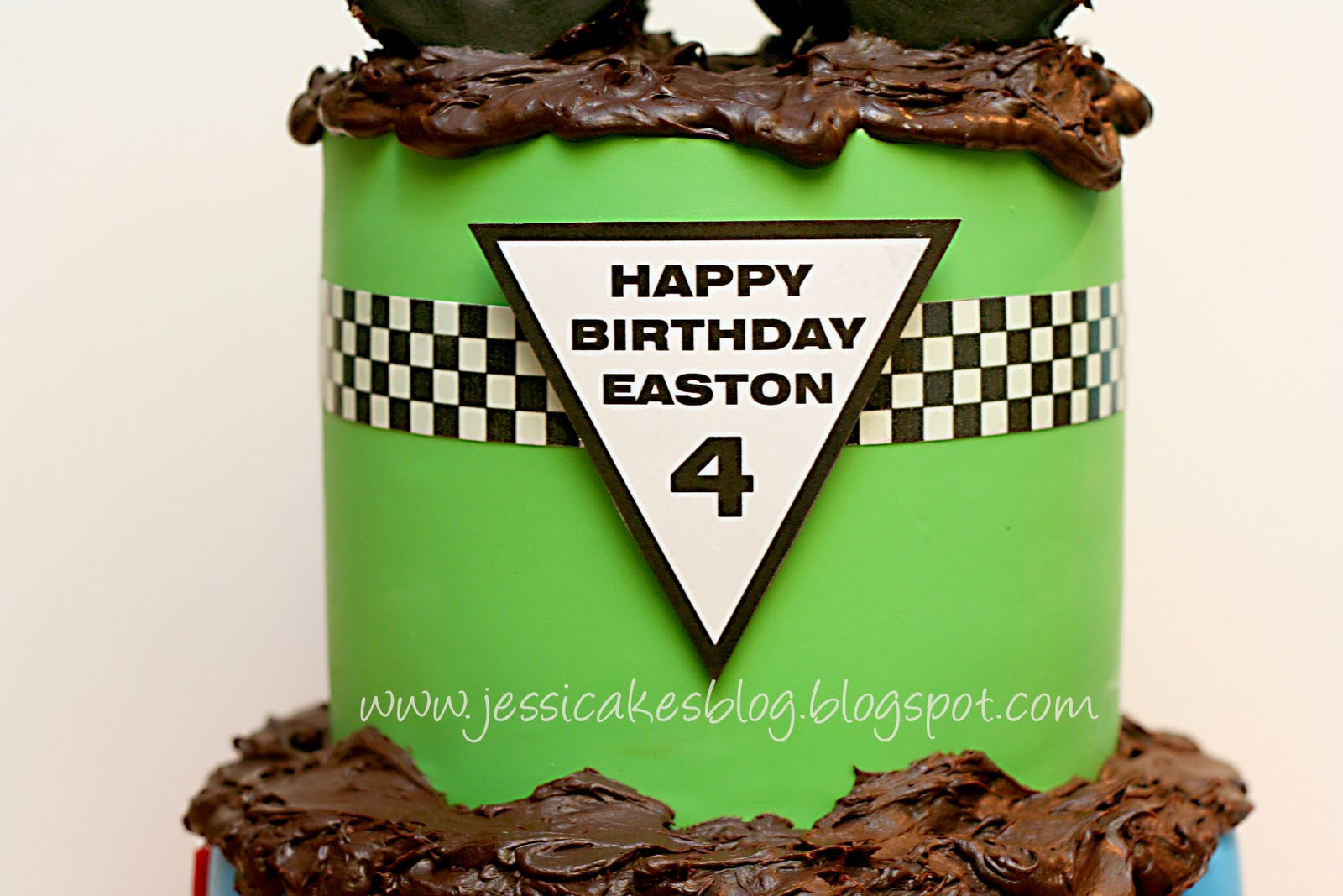 Remarkable Monster Truck The Completed Cake Part 3 Or 3 Jessica Harris Funny Birthday Cards Online Elaedamsfinfo