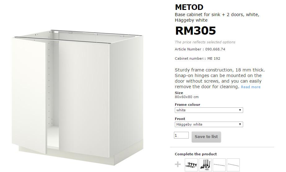 sisikami: DIY Kitchen Cabinet IKEA - Apa Yang Perlu Beli???