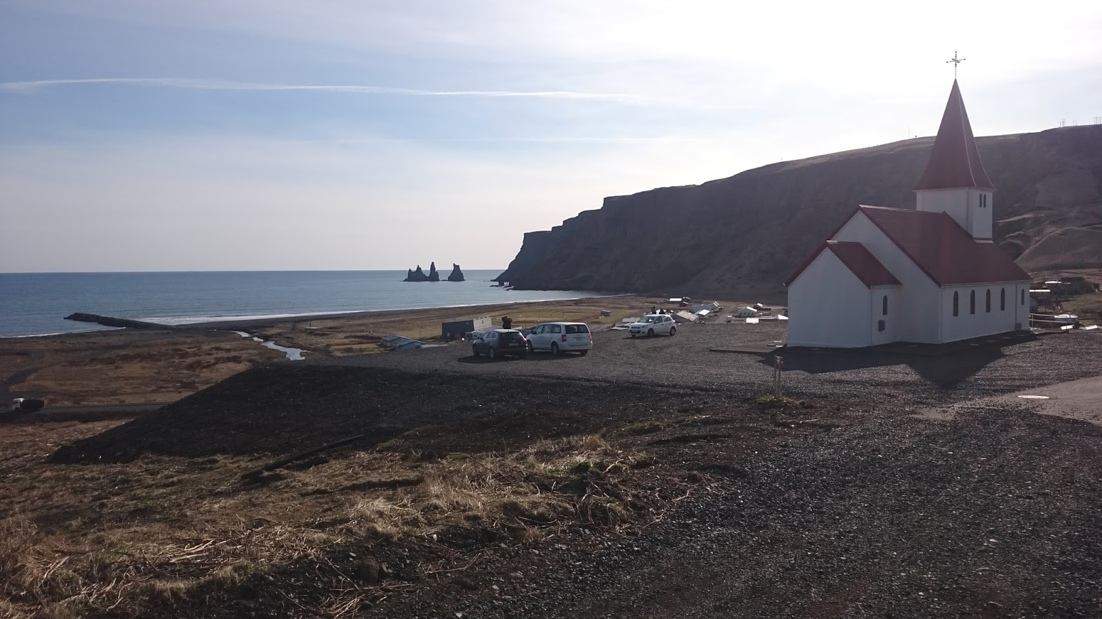 panorama Viku, miasteczko Vik, islandzkie miasteczko, Islandia
