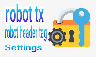 Setting robot.txt serta tag tajuk robot khusus yang benar dan aman di blog untuk seo