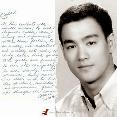 The Beijing Family: Bruce Lee's endearing note to his wife ...