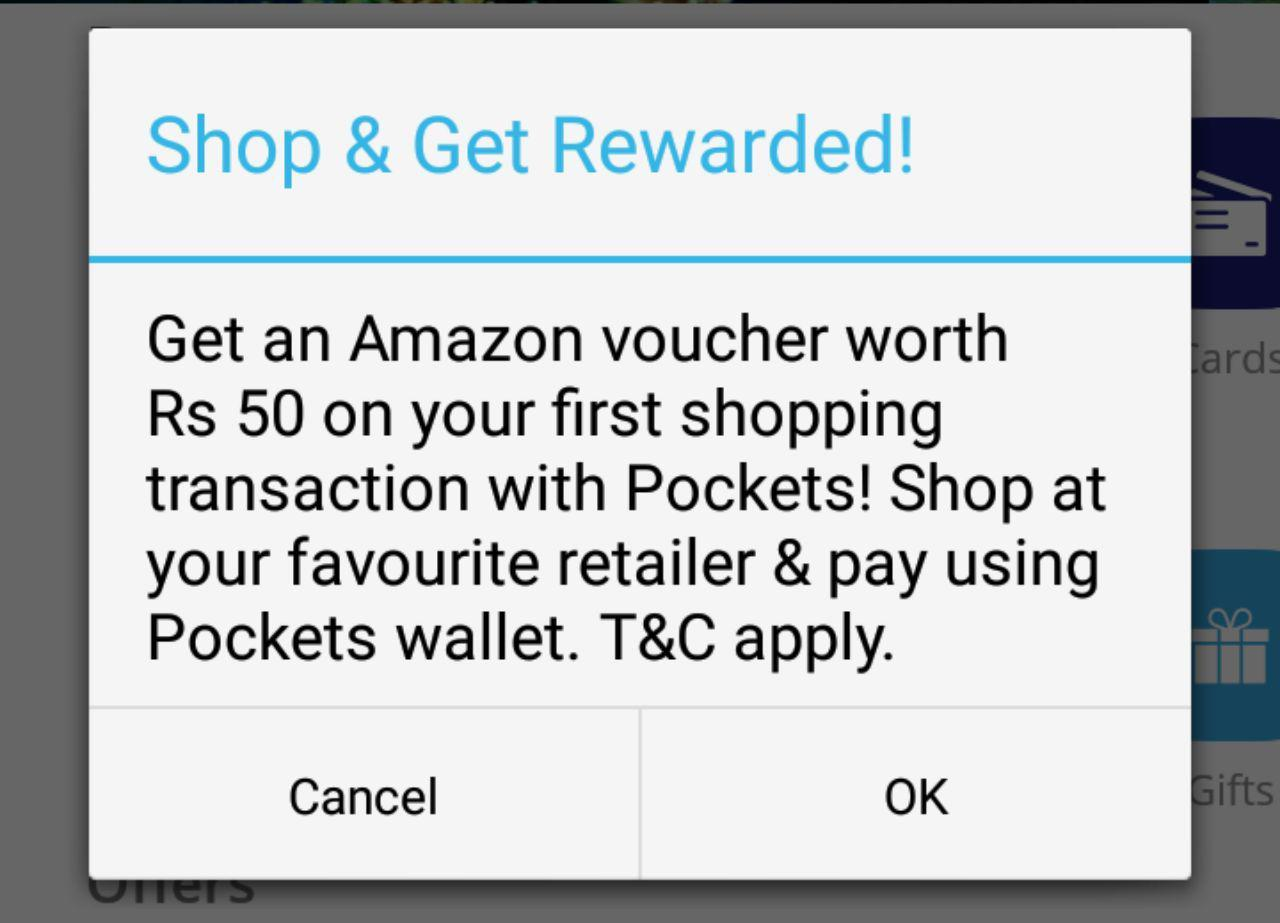 Pocket App Big Loot :- Rs 50 Amazon Gift Voucher Free For All Users